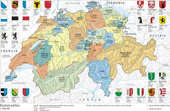 Cartina Muta Svizzera Cantoni.33 2 Struttura Politica Atlante Mondiale Svizzero