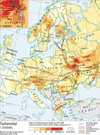 Tschernobyl Karte.61 2 Tschernobyl Schweizer Weltatlas