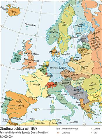 Cartina Politica Muta Dell Europa.71 3 Struttura Politica Nel 1937 Prima Dell Inizio Della Seconda Guerra Mondiale Atlante Mondiale Svizzero