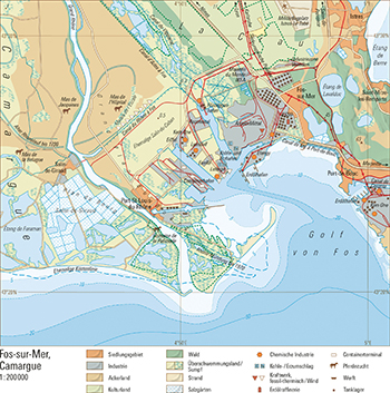 Camargue Karte.77 2 Fos Sur Mer Camargue Schweizer Weltatlas