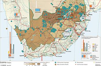 Südafrika Karte Pdf.121 1 Südafrika Bergbau Schweizer Weltatlas