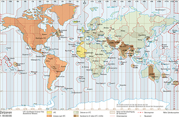 Azoren Karte Weltatlas.207 2 Zeitzonen Schweizer Weltatlas