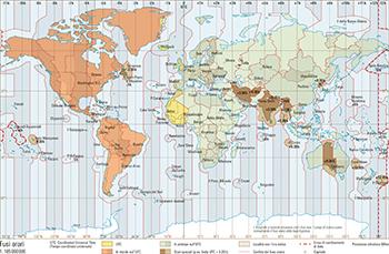 Cartina Fuso Orario Mondo.207 2 Fusi Orari Atlante Mondiale Svizzero
