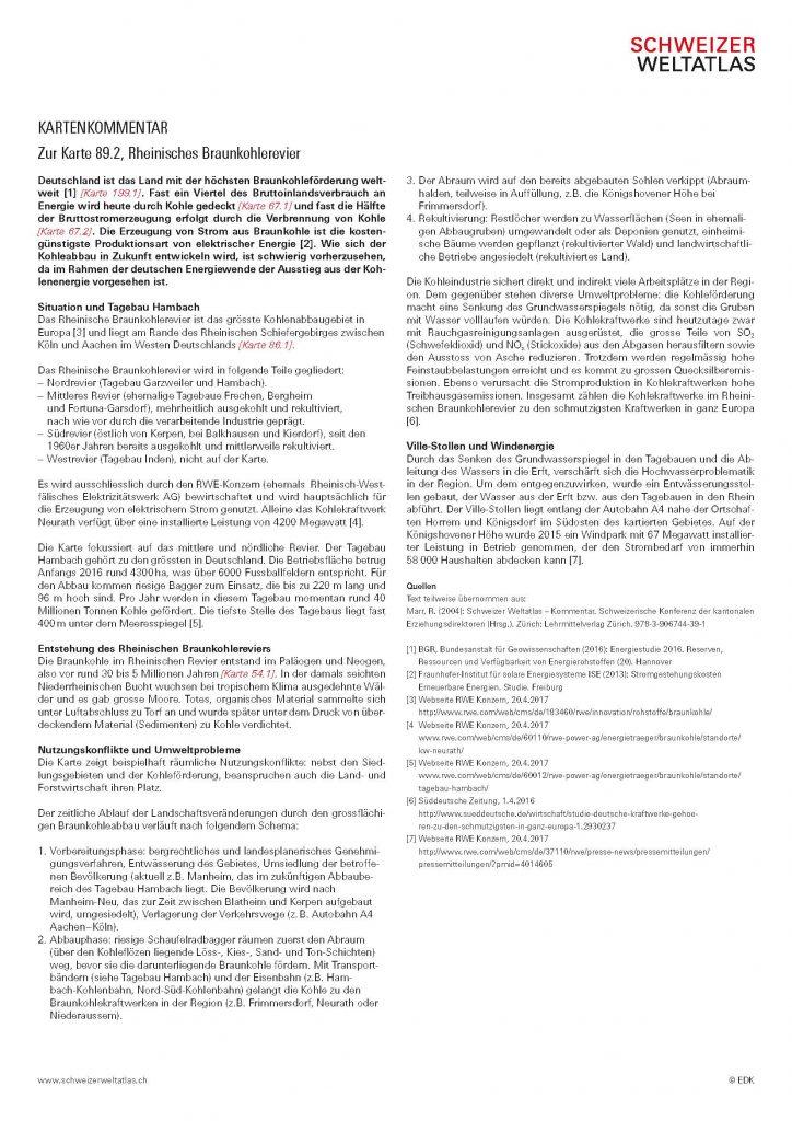 Informationen zum Material – SCHWEIZER WELTATLAS